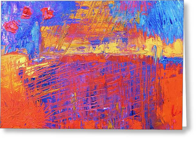 Faa Featured Paintings Greeting Cards - Color Play Greeting Card by Marla McPherson