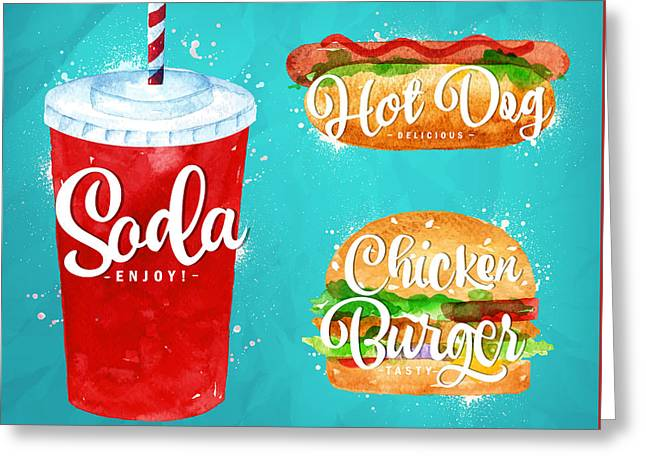 Color Soda Greeting Card by Aloke Design