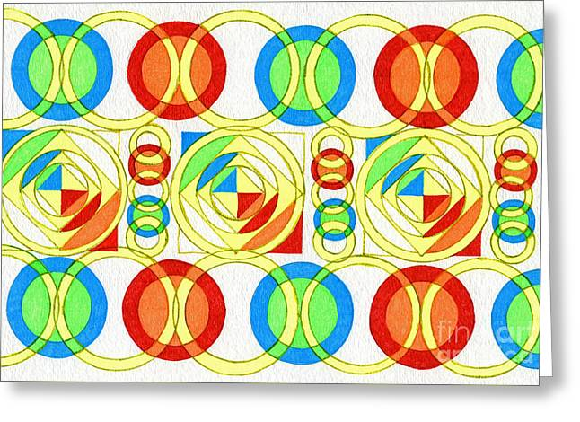 Color Space Greeting Card by Norma Appleton