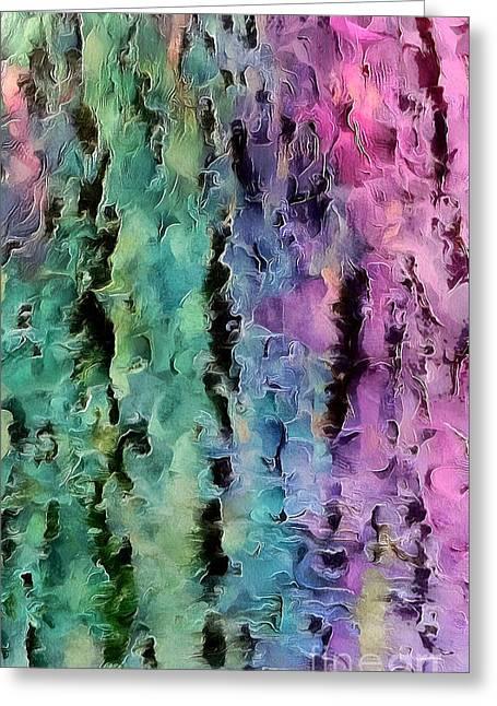 Color Splash Greeting Card by Krissy Katsimbras