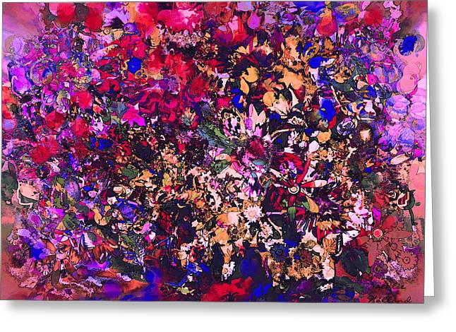 Black Berries Mixed Media Greeting Cards - Color Splendor Greeting Card by Natalie Holland