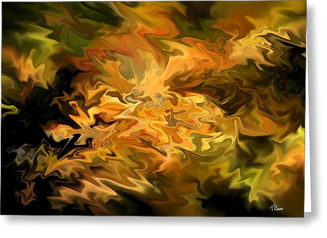 Abstract Digital Digital Greeting Cards - Color Storm Greeting Card by Tom Romeo