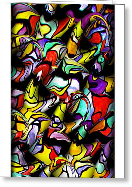Abstract Forms Greeting Cards - Color Unfolds Greeting Card by Joan  Minchak