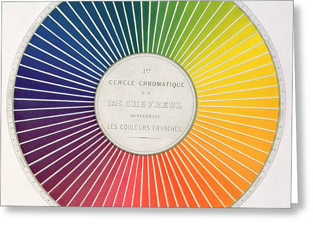 Color Wheel Greeting Card by French School
