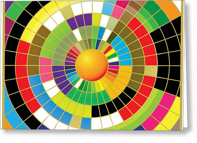 Color Wheel Greeting Card by Gary Grayson