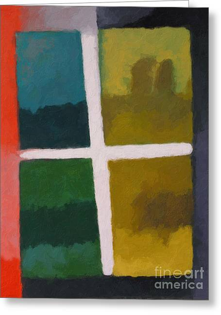 Abstract Field Greeting Cards - Color Window Greeting Card by Lutz Baar