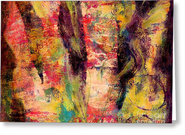 Abstract Greeting Cards - Color with Style Greeting Card by Laura L Leatherwood