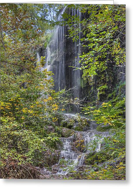 Colorado Bend State Park - Gorman Falls 2 Greeting Card by Rob Greebon