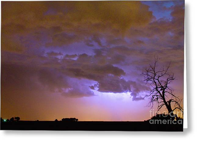 The Lightning Man Greeting Cards - Colorado Cloud to Cloud Lightning Thunderstorm 27G Greeting Card by James BO  Insogna