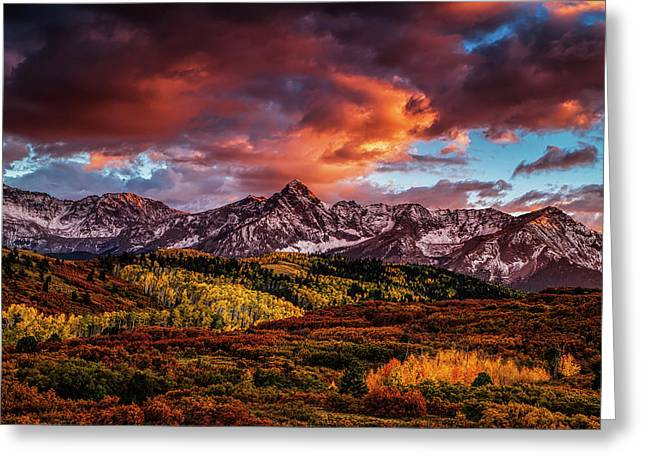 Colorado Color Greeting Card by Andrew Soundarajan