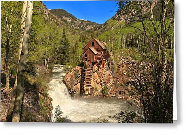 Crystal Mill Greeting Cards - Colorado Crystal Mill Greeting Card by Adam Jewell