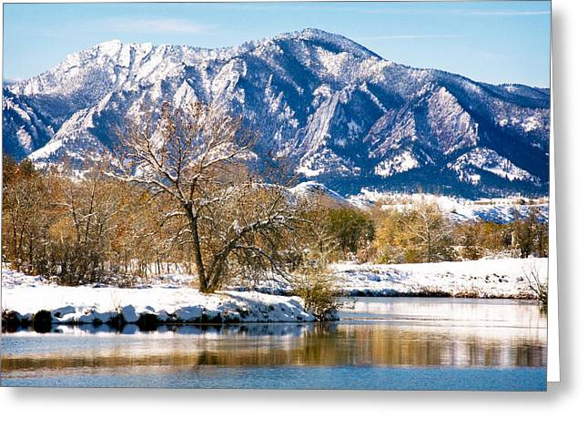 Walden Pond Greeting Cards - Colorado Flatirons 2 Greeting Card by Marilyn Hunt