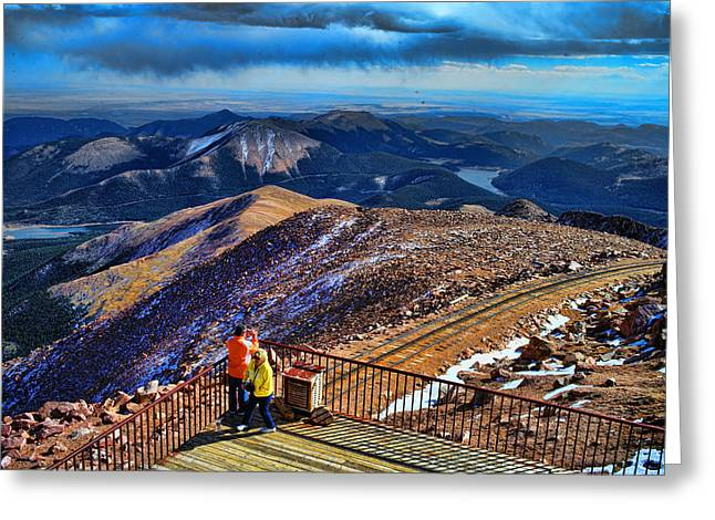 Cog Greeting Cards - Colorado From Pikes Peak Greeting Card by Lawrence Christopher