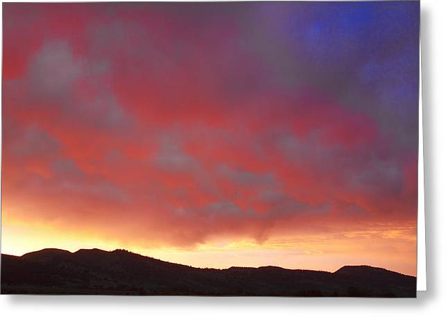 Commercial Space Greeting Cards - Colorado Front Range Rocky Mountains Foothills Sunset Greeting Card by James BO  Insogna