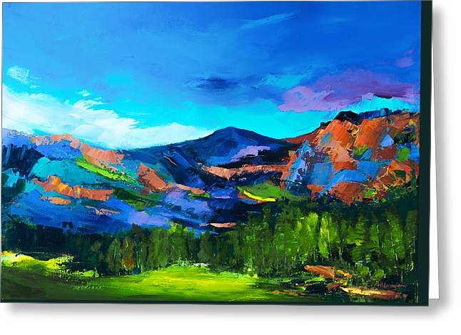 Dazzled Greeting Cards - Colorado Hills Greeting Card by Elise Palmigiani