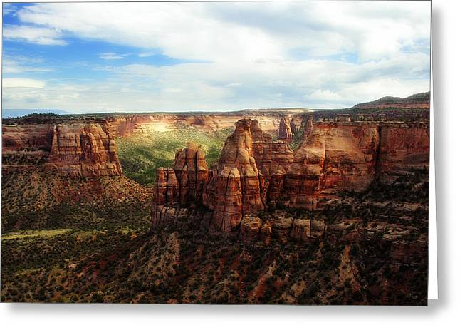 Americana Landscapes Greeting Cards - Colorado National Monument Greeting Card by Marilyn Hunt