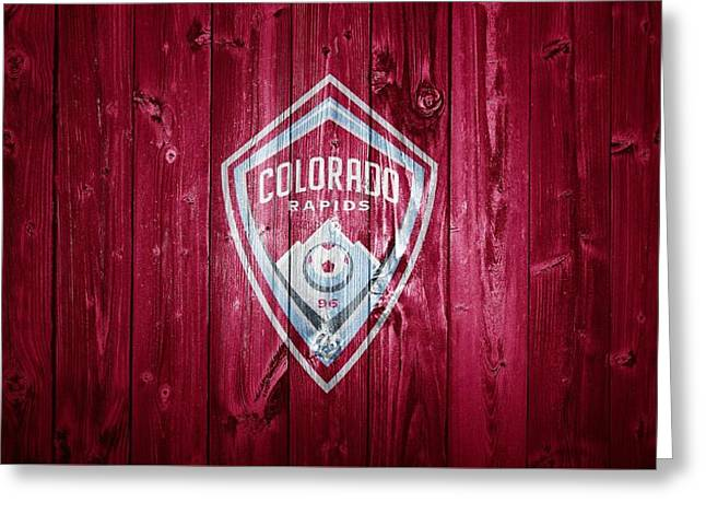 Colorado Rapids Barn Door Greeting Card by Dan Sproul