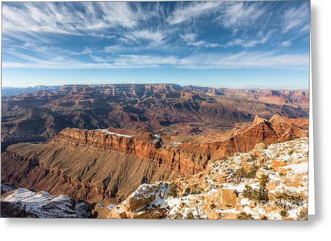 Colorado River And The Grand Canyon Greeting Card by Clarence Holmes