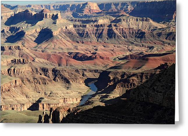 The Grand Canyon Greeting Cards - Colorado river Carving the Grand Canyon Greeting Card by Pierre Leclerc Photography