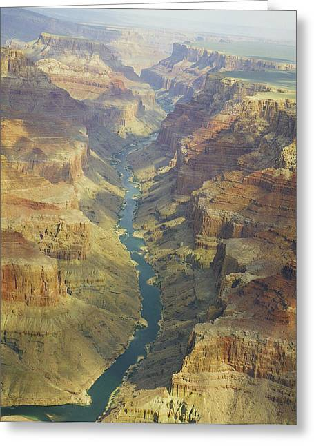 Mac K Miller Greeting Cards - Colorado River Inside the Grand Canyon Greeting Card by M K  Miller