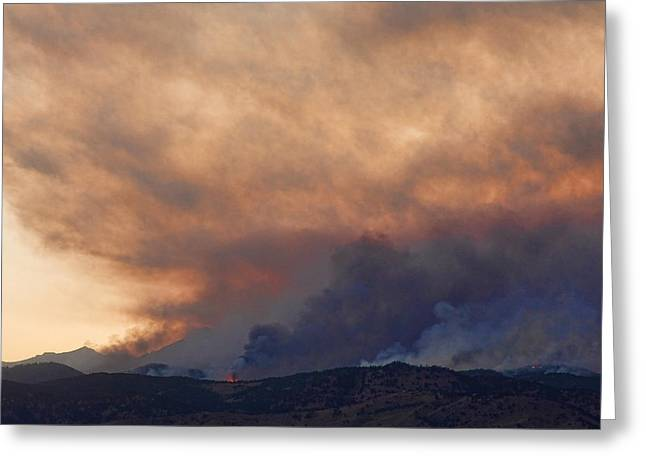 Colorado Wildfires Greeting Cards - Colorado Rockies on Fire Greeting Card by James BO  Insogna
