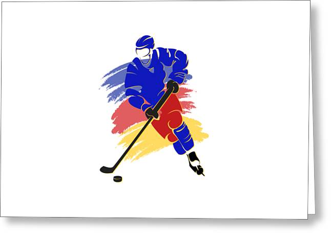 Ice-skating Greeting Cards - Colorado Rockies Player Shirt Greeting Card by Joe Hamilton