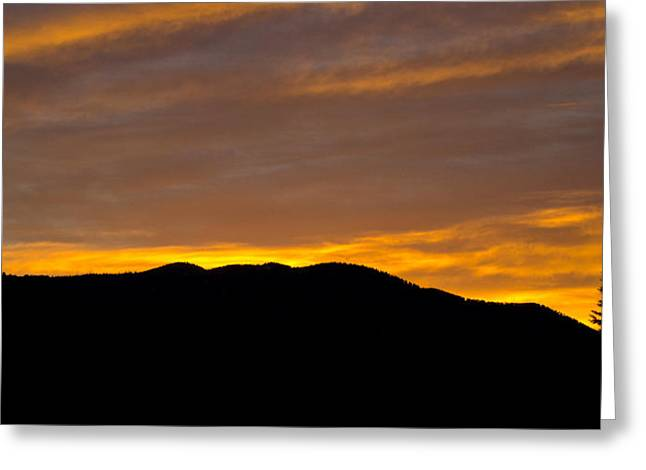 Colorado Fires Greeting Cards - Colorado Sunrise Greeting Card by Brendan Reals