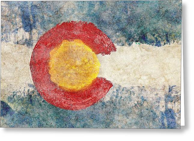 Colorado Flag Greeting Cards - Colorado - The Centennial State Greeting Card by Brett Pfister