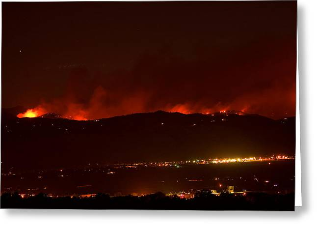 Colorado WildFire Fourmile Canyon aka Labor Day Fire Greeting Card by James BO  Insogna