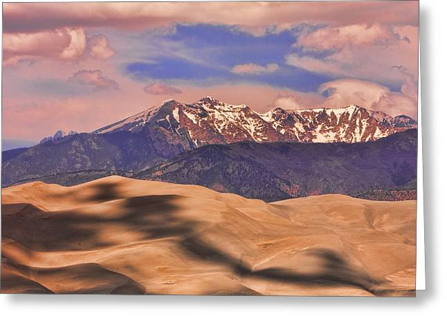 Colorado Sand Dunes Greeting Cards - Colorados Great Sand Dunes Shadow of the Clouds Greeting Card by James BO  Insogna