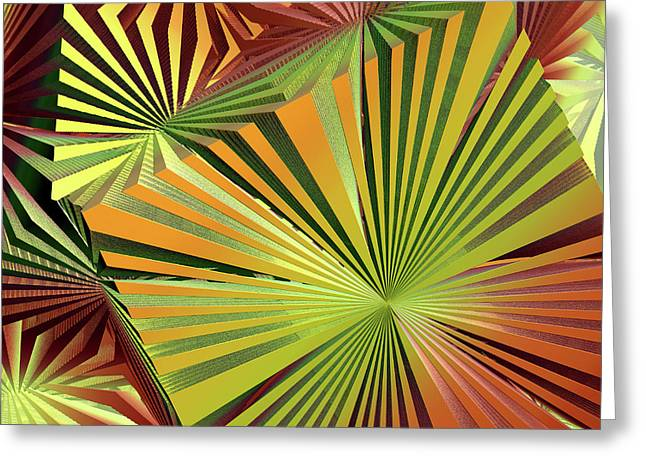 Incendia Greeting Cards - Colored Box Abstract Greeting Card by Deborah Benoit