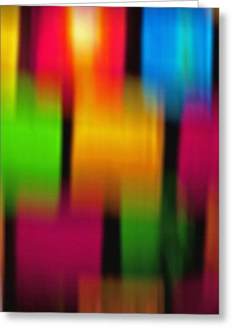 Subdued Hues Greeting Cards - Colored Glass Candle Holder - Abstract Greeting Card by Steve Ohlsen