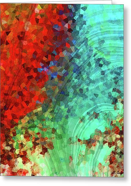 Colorful Abstract Art - Rejoice - Sharon Cummings Greeting Card by Sharon Cummings