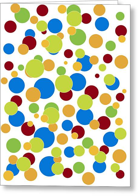 Dots Greeting Cards - Colorful Abstract Greeting Card by Frank Tschakert