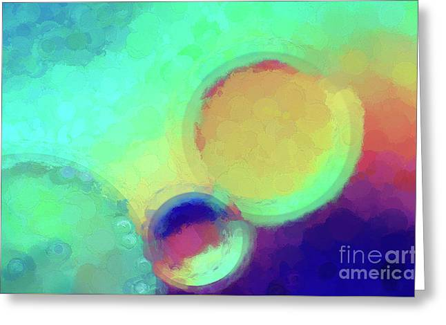 Colorful Abstract Painting Greeting Card by Darren Fisher
