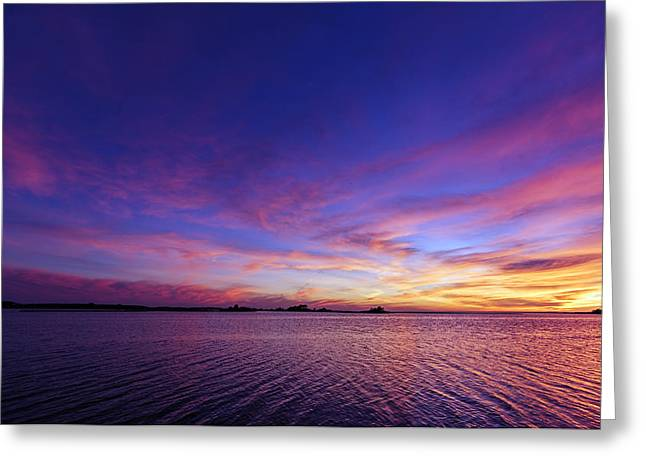 Colorful Assateague Sunset - Maryland Greeting Card by Shara Lee