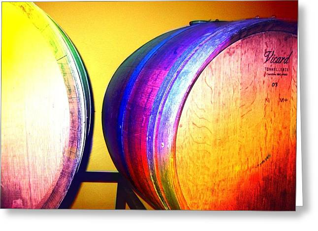 Colorful Barrels Greeting Card by Cindy Edwards