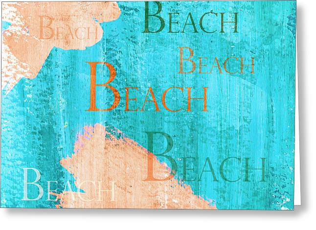Colorful Beach Sign Greeting Card by Frank Tschakert