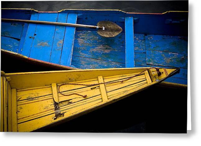 Dal Lake Greeting Cards - Colorful Boats Dal Lake Greeting Card by David DuChemin