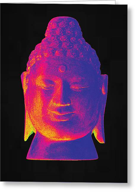 For Sale Sculptures Greeting Cards - colorful Buddha Borobudur  Greeting Card by Terrell Kaucher