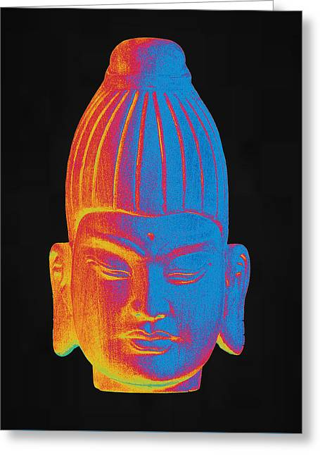 For Sale Sculptures Greeting Cards - colorful Buddha Burmese Greeting Card by Terrell Kaucher