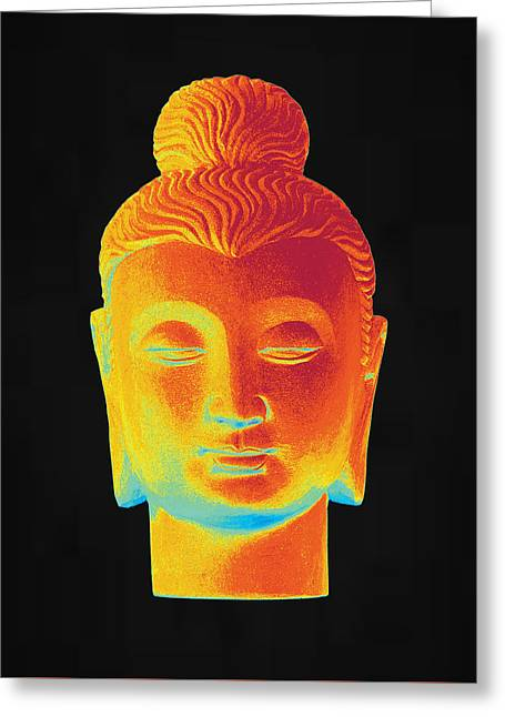 For Sale Sculptures Greeting Cards - colorful Buddha Gandhara Greeting Card by Terrell Kaucher