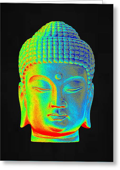 For Sale Sculptures Greeting Cards - colorful Buddha Korean Greeting Card by Terrell Kaucher
