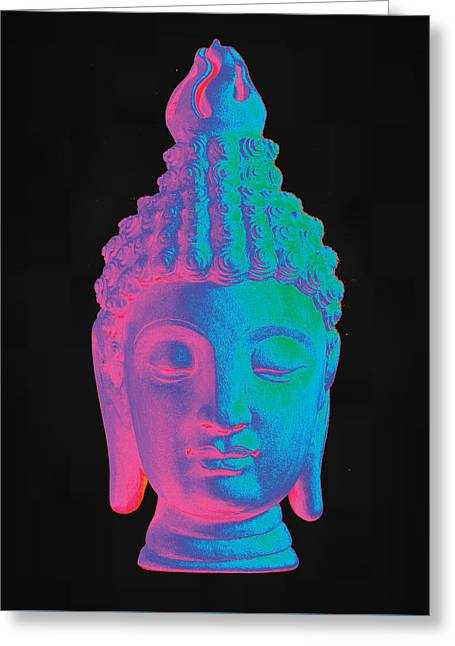 Zen Sculptures Greeting Cards - colorful Buddha Sukhothai Greeting Card by Terrell Kaucher