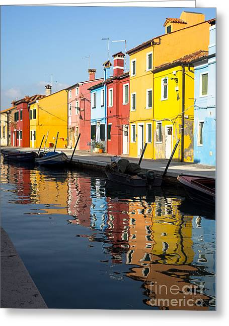 Charly Greeting Cards - Colorful Burano Greeting Card by Prints of Italy