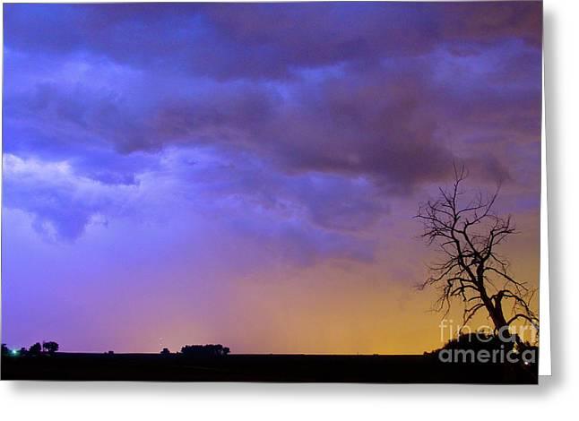 Lightning Bolt Pictures Greeting Cards - Colorful C2C Lightning Country Landscape Greeting Card by James BO  Insogna