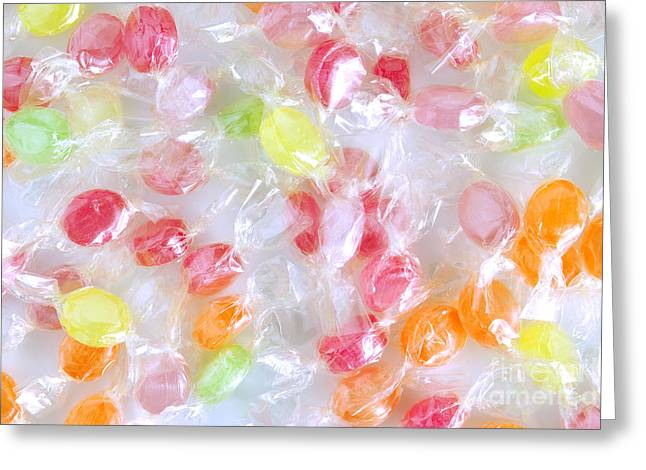 Different Greeting Cards - Colorful Candies Greeting Card by Carlos Caetano