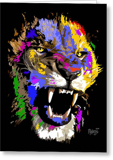 Lioness Greeting Cards - Cat Snarl Greeting Card by Anthony Mwangi