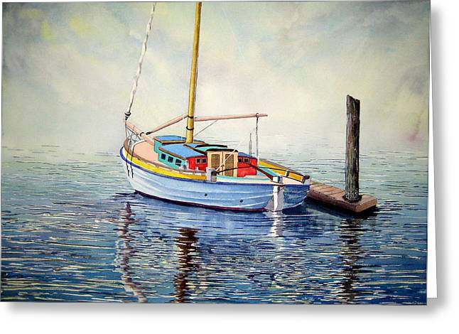 Bainbridge Island Greeting Cards - Colorful Classic Greeting Card by Stephen Abbott
