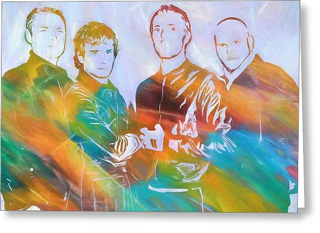 Colorful Coldplay Greeting Card by Dan Sproul